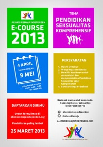 poster-ecourse-aliansi-remaja-independen-2013